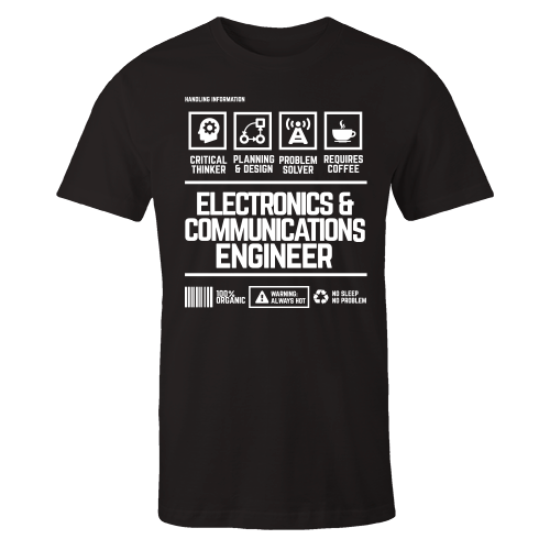 Electronics & Communications Engineer Handling Black Cotton Shirt