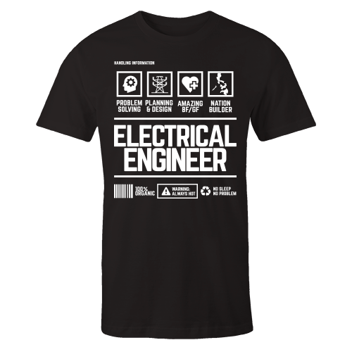 Electrical Engineer v3 Handling Black Cotton Shirt