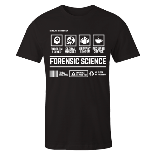 Forensic Science Handling Black Cotton Shirt