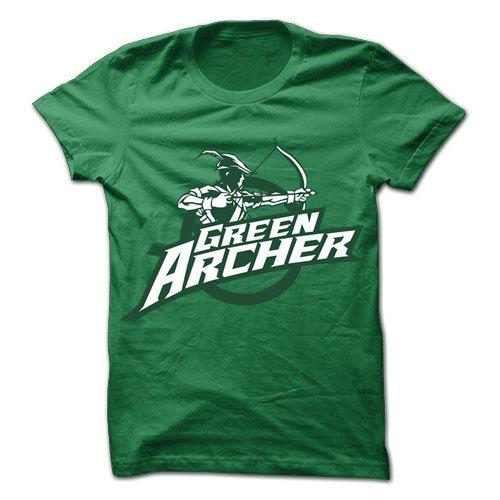 Green Archer v2 Green Cotton Shirt