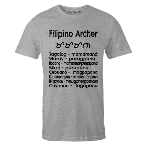 Filipino Archer Grey Cotton Shirt
