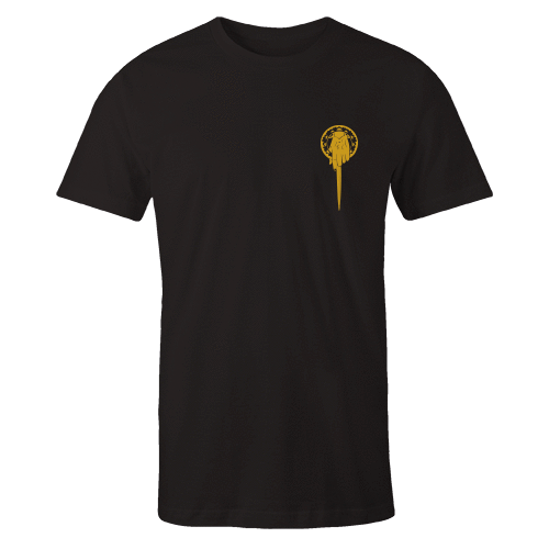 Hand Of The King Gold Embroidered Black Shirt