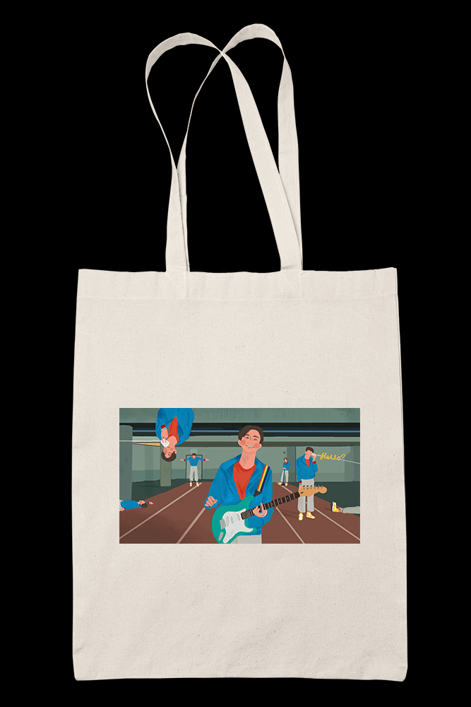Hello anxiety Sublimation Canvass Tote Bag