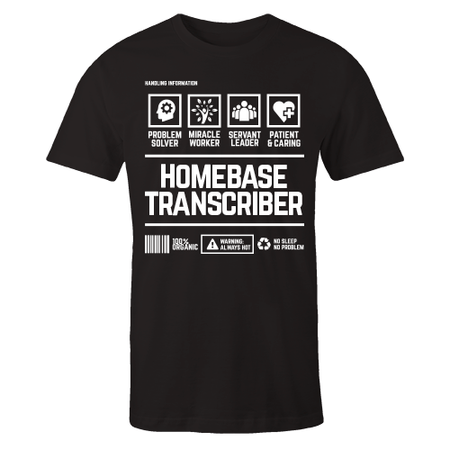 Homebased Transcriber Black Cotton Shirt