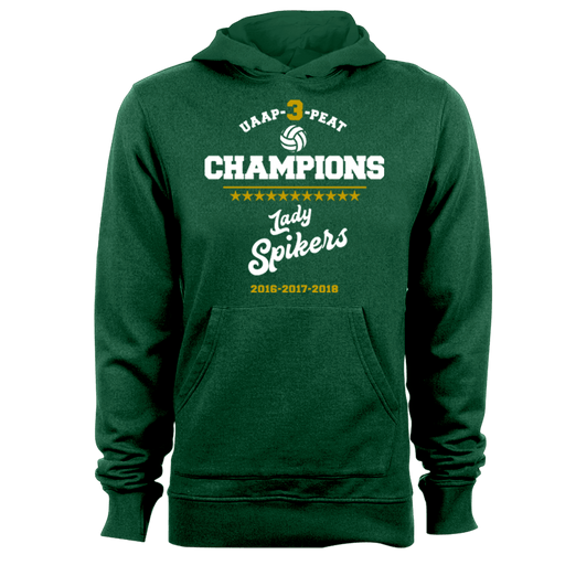 2018 Lady Spikers Championship Green Hoodie