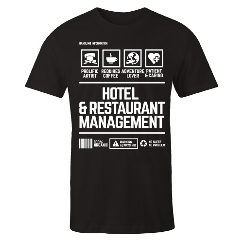 Hotel & Restaurant Management v2 Handling Black Cotton Shirt