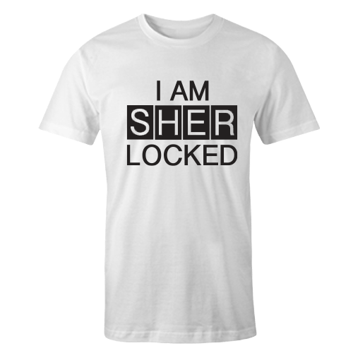 I AM SHERLOCKED White Cotton Shirt