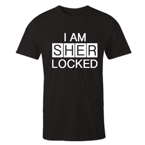 I AM SHERLOCKED Black Cotton Shirt