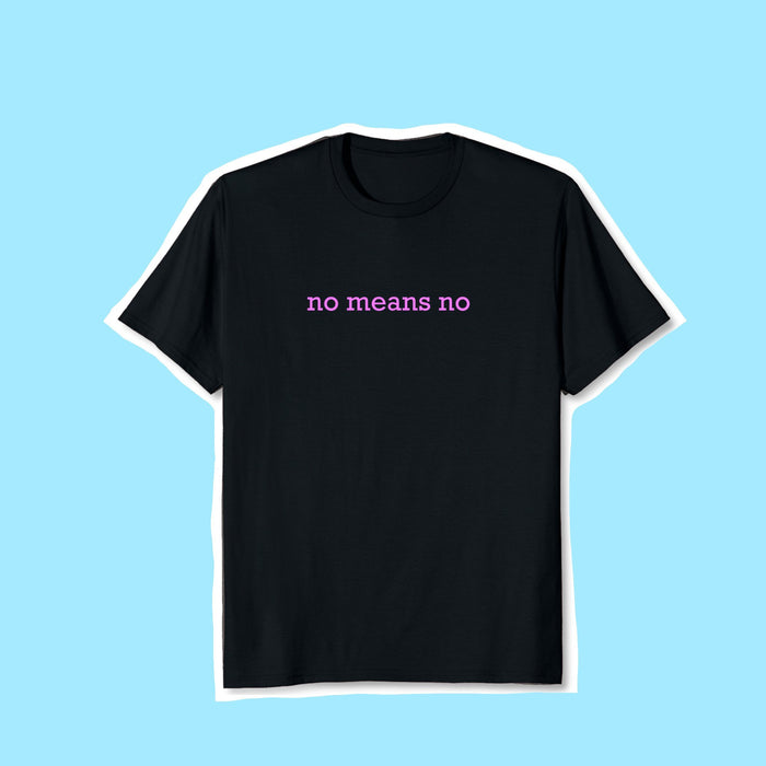 No Means No Embroidered Cotton Shirt
