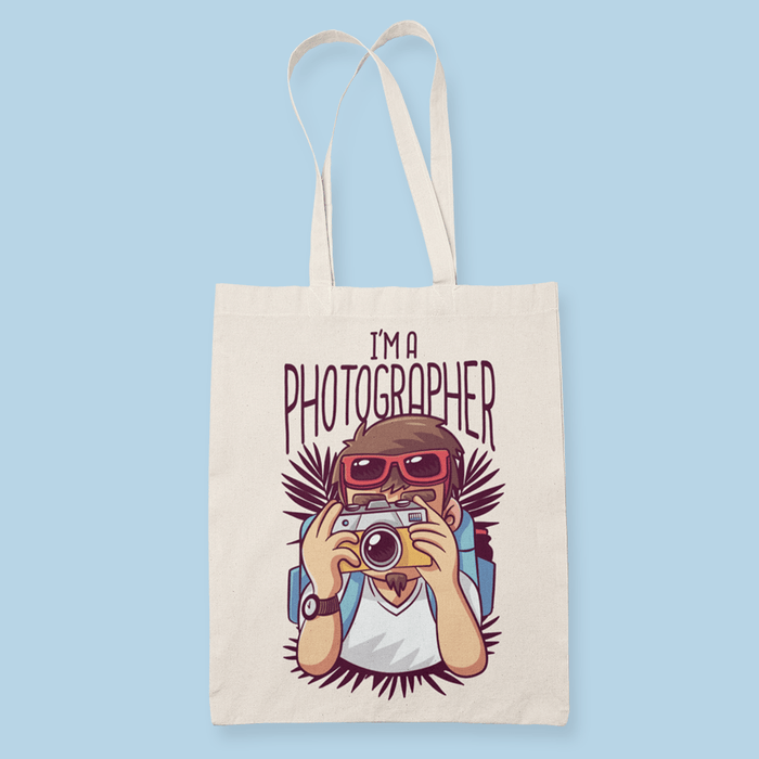 Photographer Sublimation Canvass Tote Bag