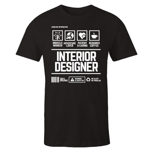 Interior Designer Handling Black Cotton Shirt