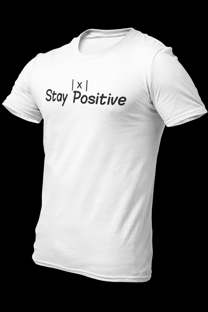 Stay Positive White Cotton Shirt