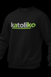 Katoliko Black Cotton Sweatshirt