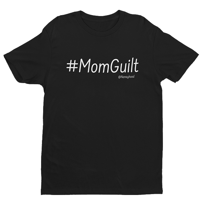 #Mom Guilt Black Cotton Shirt