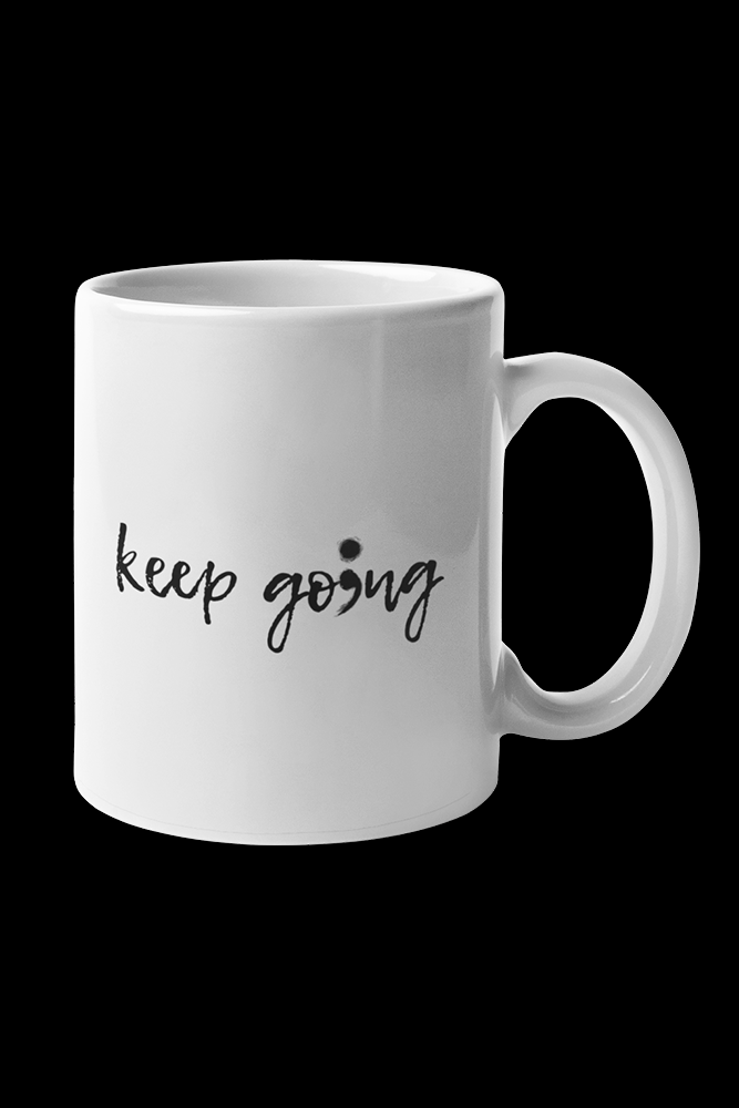 Keep Go Sublimation White Mug