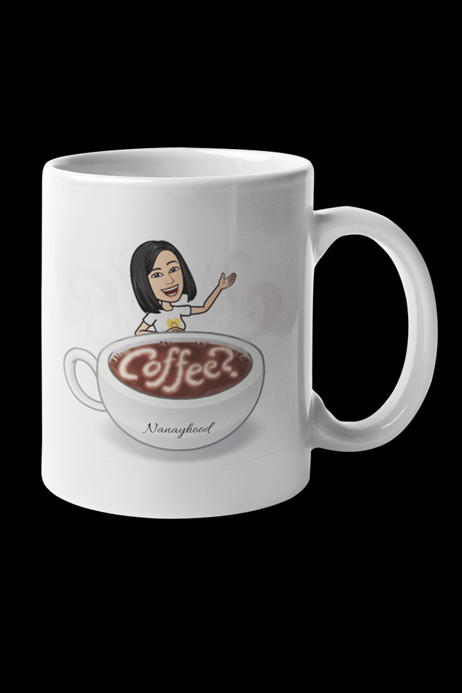 Nanay Coffee Sublimation White Mug