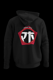 Peenoise Logo Embroidered pocket size print  Black Hoodie w/back vinyl print