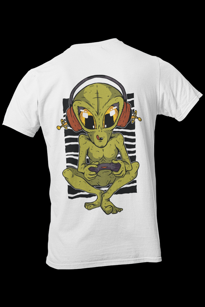 Alien Gamer Sublimation Dryfit Shirt Front and Back Print