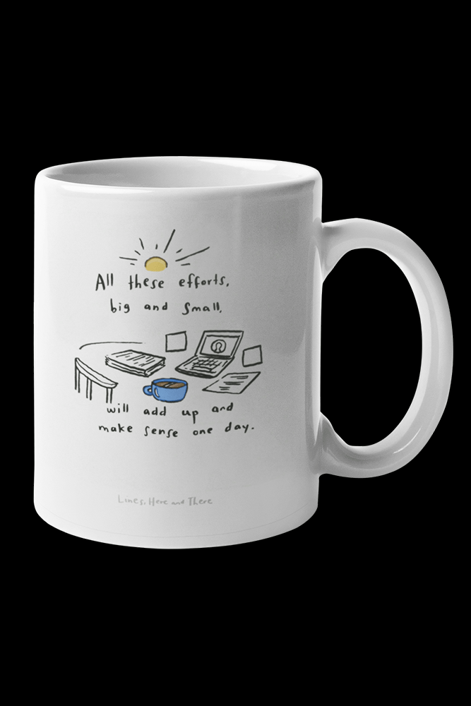 All this efforts Sublimation White Mug