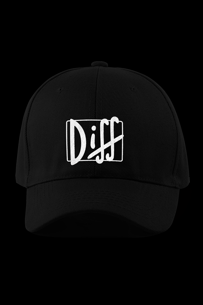 Diff Logo Black Embroidered Cap