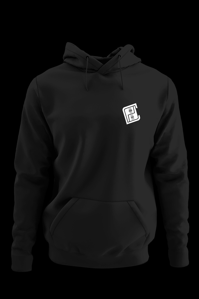 PMP Black Hoodie With Back Print