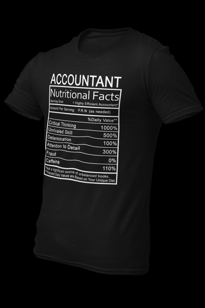 Accountant Nutritional Black Cotton Shirt