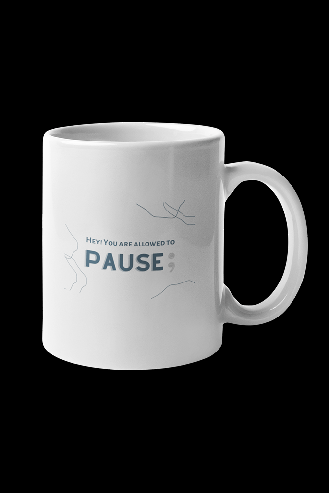 Pause Sublimation White Mug
