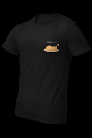 Meow Ko Na Black Embroidered Cotton Shirt w/ Vinyl Logo at the back