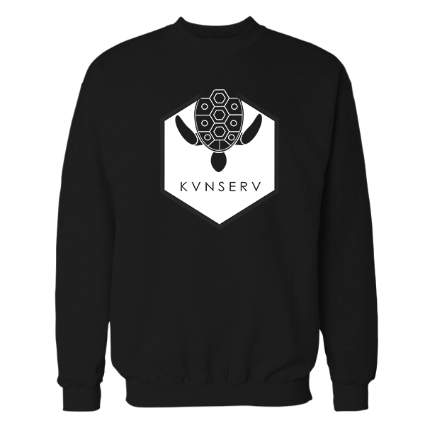 Kunserve Black Cotton Sweatshirt