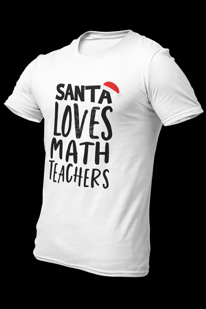 Santa Loves Math Sublimation Dryfit Shirt