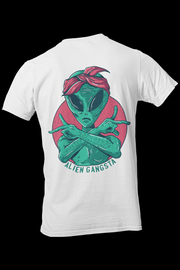 Alien Gangsta Sublimation Dryfit Shirt Front and Back Print