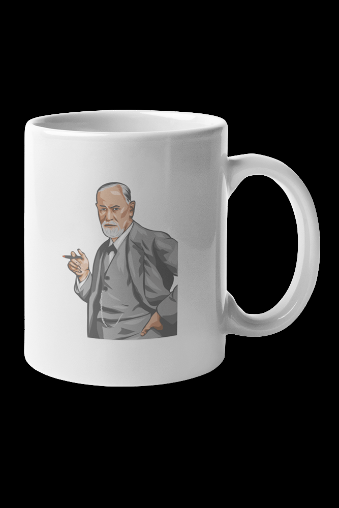 Freud Portrait Sublimation White Mug