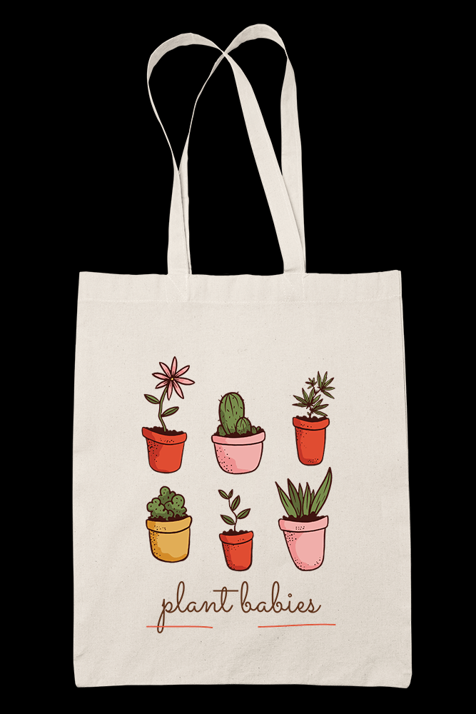 Plant Babies Sublimation Canvass Tote Bag