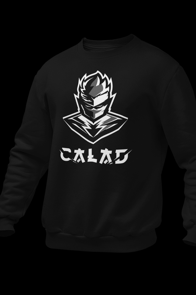 B&W CALAD Black Cotton Sweatshirt