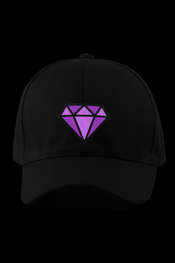 Diamond Black Embroidered Cap