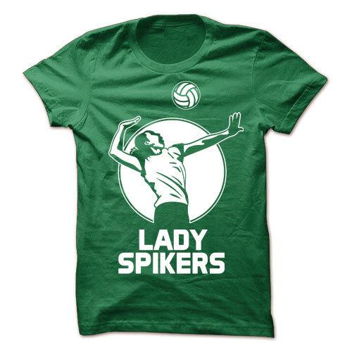 Lady Spikers Green Cotton Shirt
