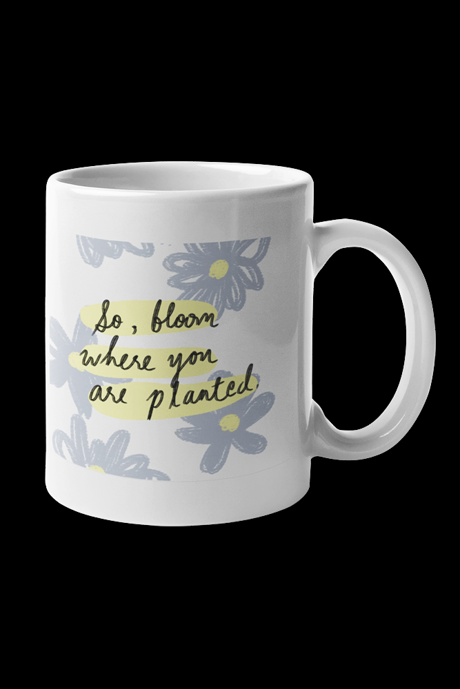 So Bloom Sublimation White Mug