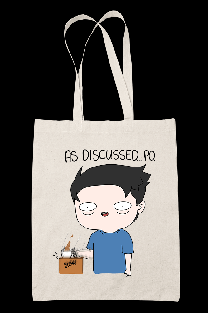 As Discussed Po Sublimation Canvass Tote Bag