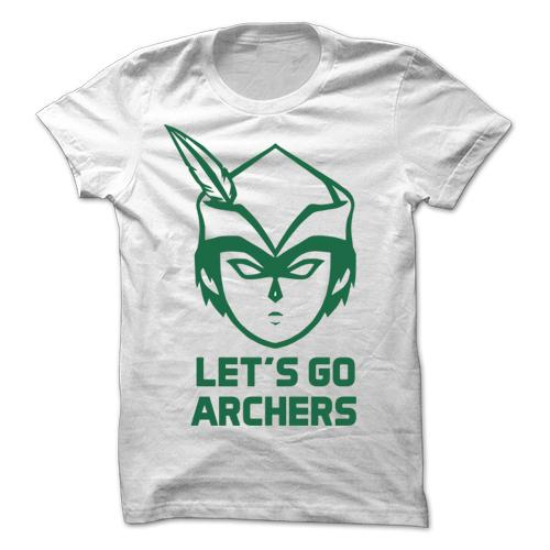 Let's Go Archers White Cotton Shirt