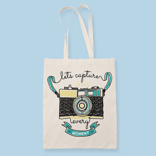 Camera Moment Sublimation Canvass Tote Bag