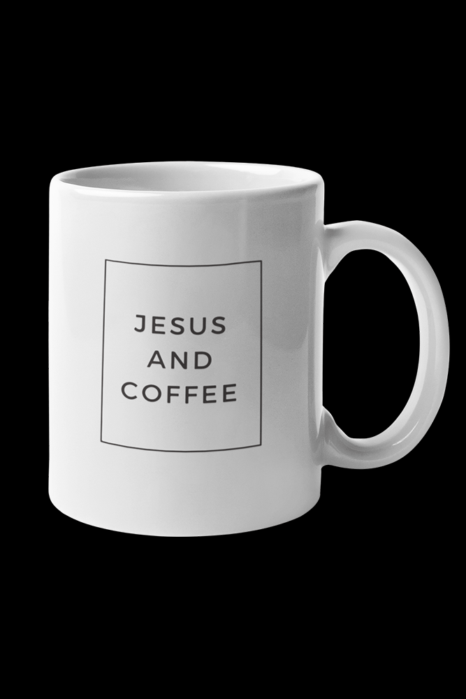 Jesus And Coffee Sublimation White Mug