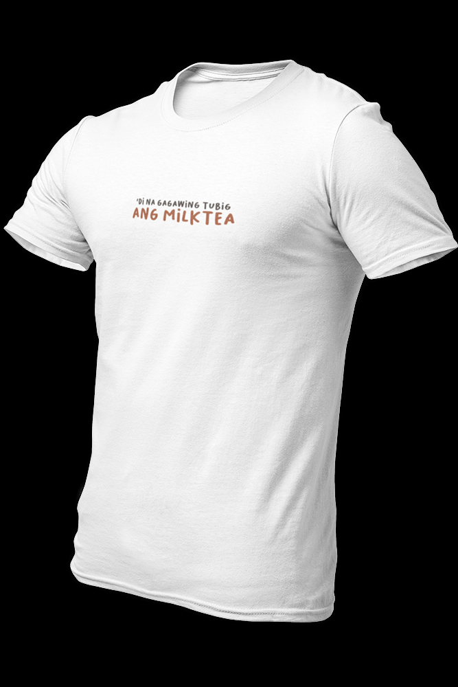 MILKTEA AS TUBIG Embroidered White Cotton Shirt