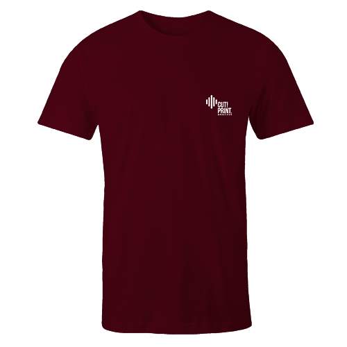 CPP Logo v3 Embroidered Maroon Cotton Shirt Pocket Size Print
