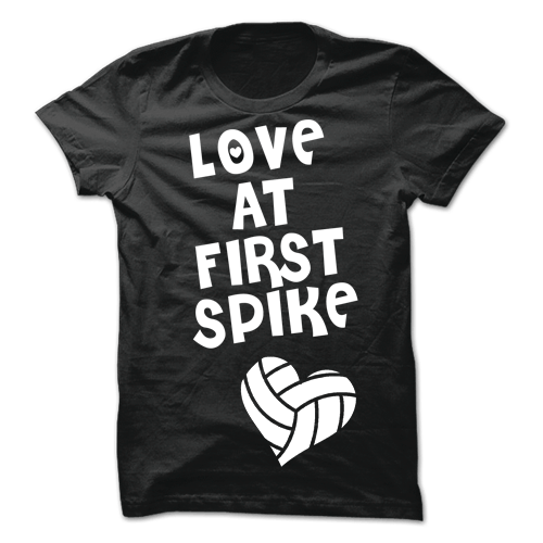 Love At First Spike Black Cotton Shirt