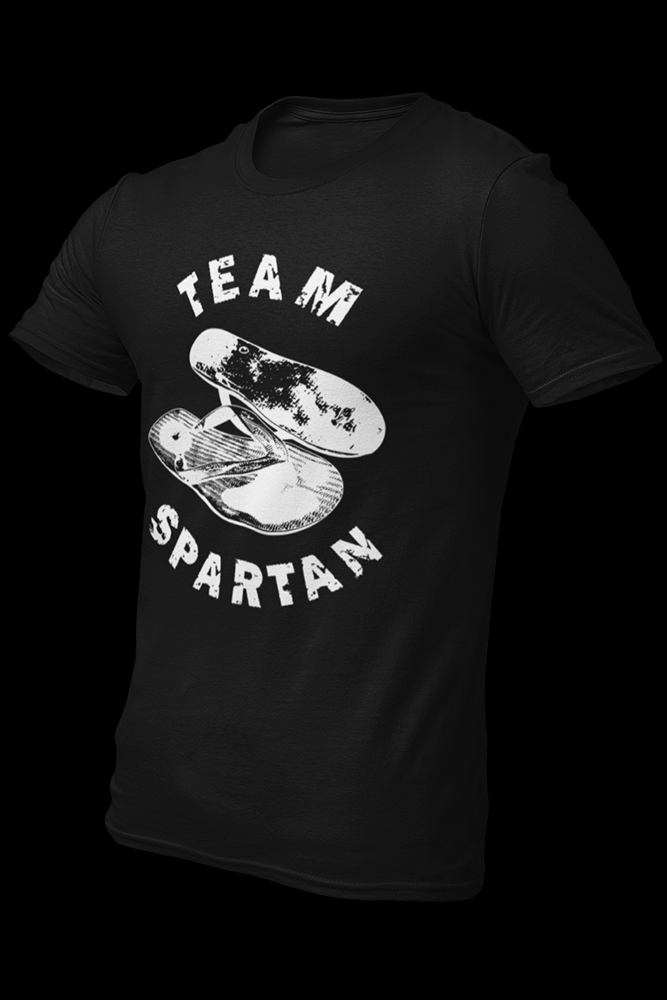 Team Spartan Black Cotton Shirt
