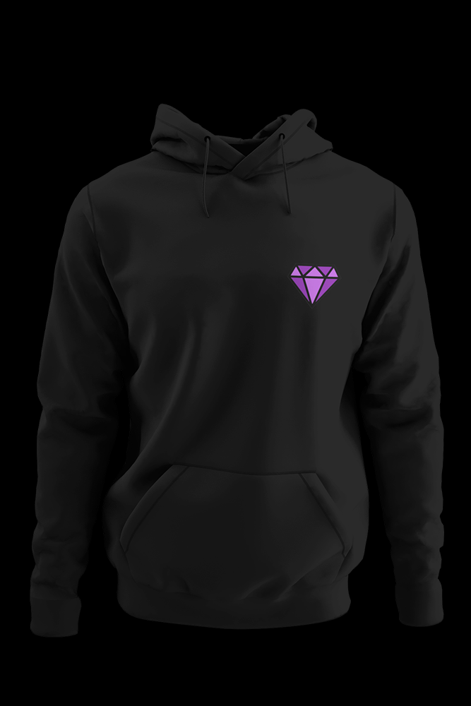 Diamond Black Embroidered Hoodie