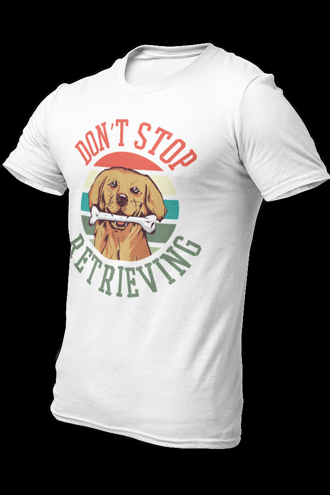 Retriever retrieving Sublimation Dryfit Shirt