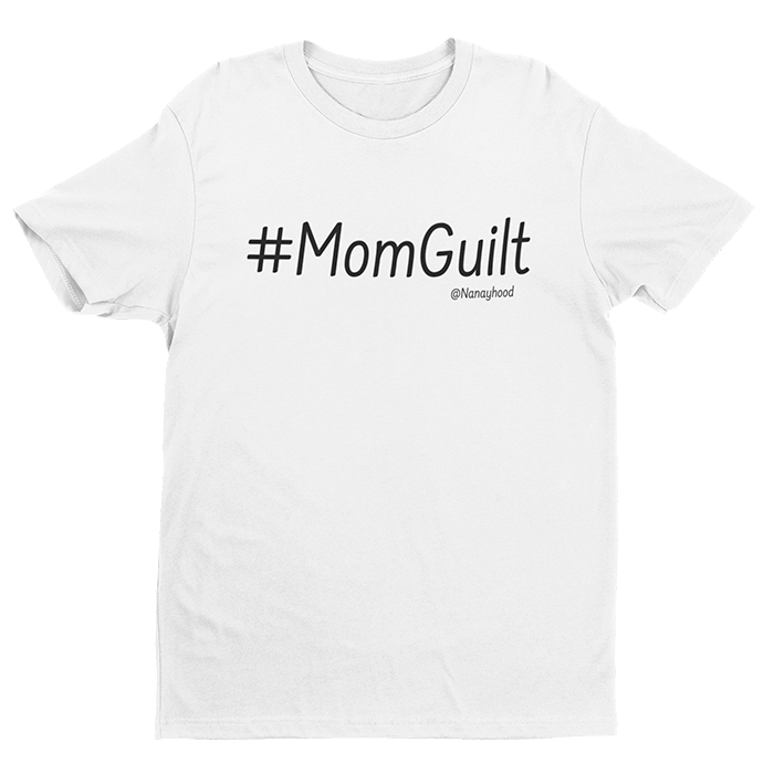 #Mom Guilt White Cotton Shirt