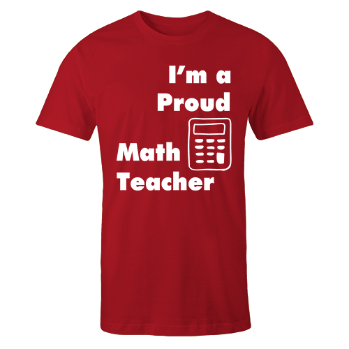 Proud math teacher Cotton Shirt