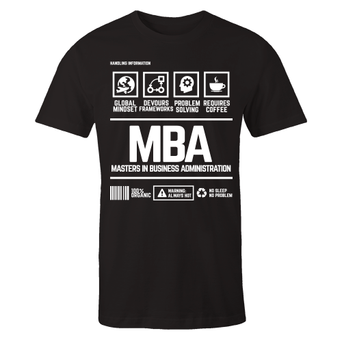 MBA Handling Black Cotton Shirt